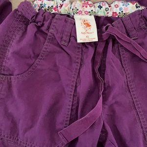 Koi extra small regular purple scrub pants